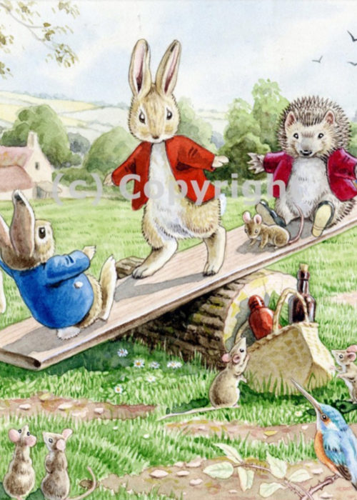Racey Helps - Animals on a See-Saw.