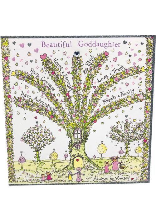 "Birthday - ""Beautiful Goddaughter""."