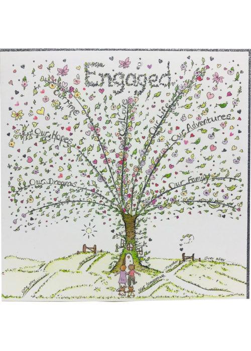 Engaged card.