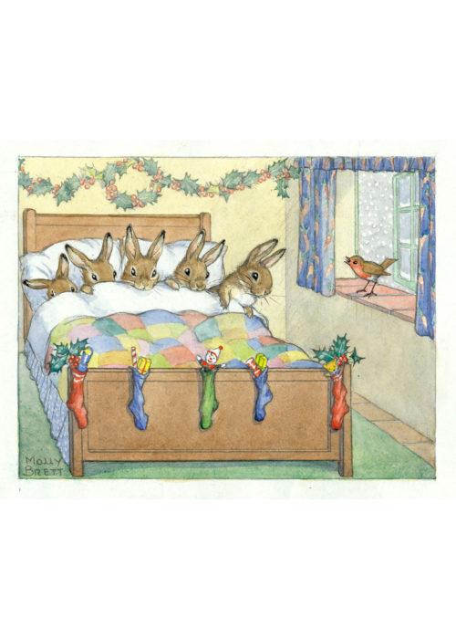 Five Rabbits Tucked Up - Molly Brett.