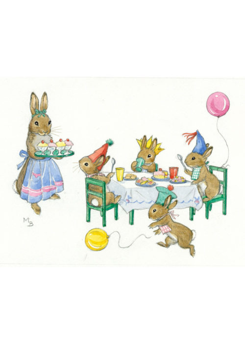 Rabbit Tea Party - Molly Brett.