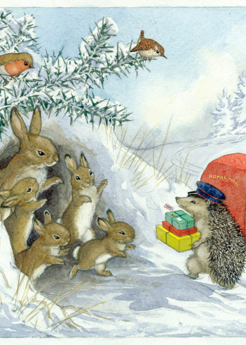 Molly Brett - The Christmas Hedgehog Postman.