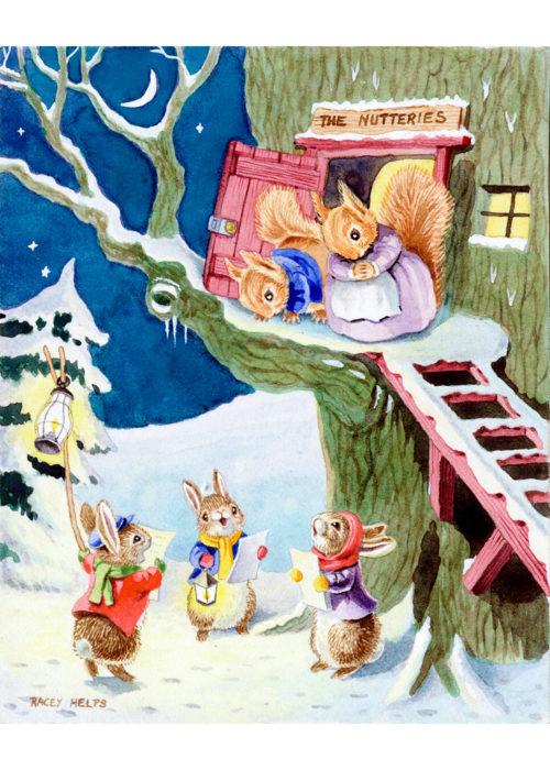 Racey Helps - Rabbits Carol Singing to Squirrels.