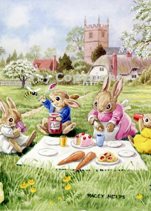 Racey Helps - Rabbits having a Picnic.