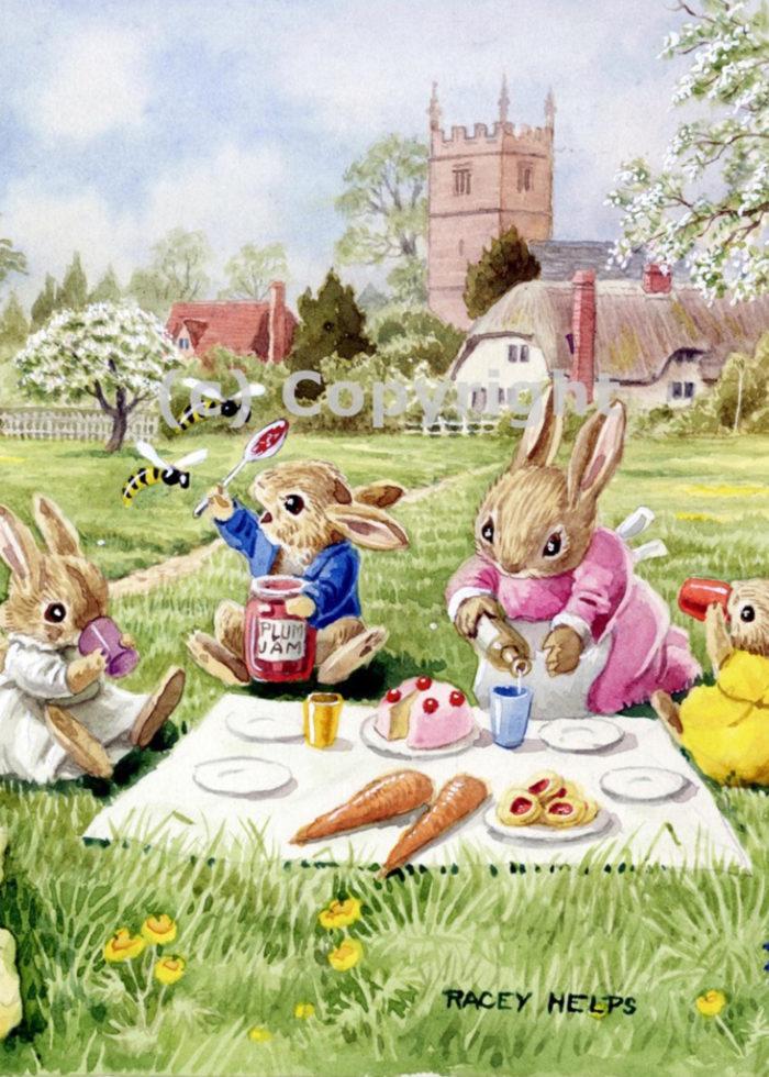 Racey Helps - Rabbits having a Picnic.