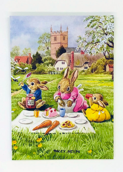 Notebook - Racey Helps - Rabbits having a Picnic.